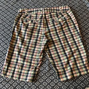 Paper Boy (Anthropologie) plaid shorts w/ tie - 6